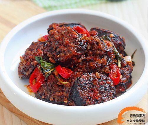 韩式料理系列之辣炒血米肠