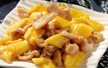 菠萝蜜炒肉片