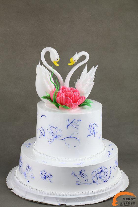 双层艺术蛋糕 心心相印