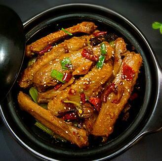 干锅香辣鸭翅