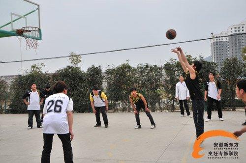 安徽新东方井岗校区校园篮球赛激情开赛